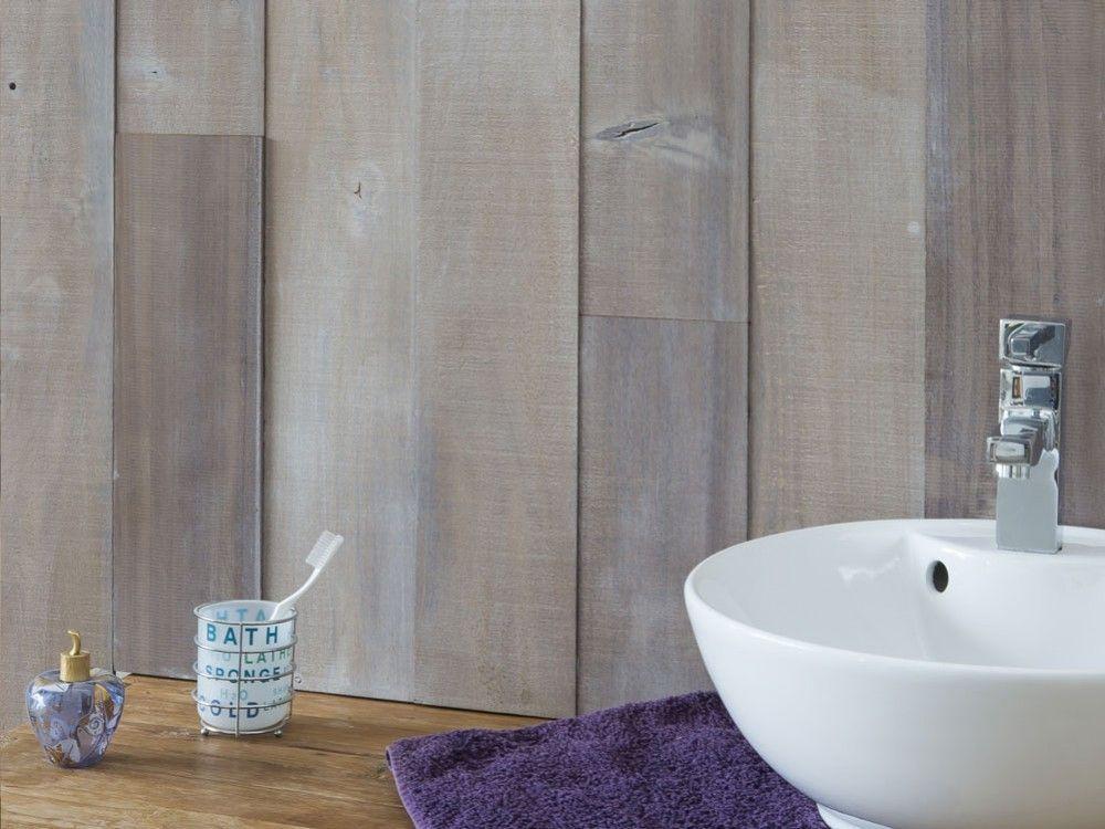 une salle de bain chaleureuse avec des lames de bois byb7. Black Bedroom Furniture Sets. Home Design Ideas